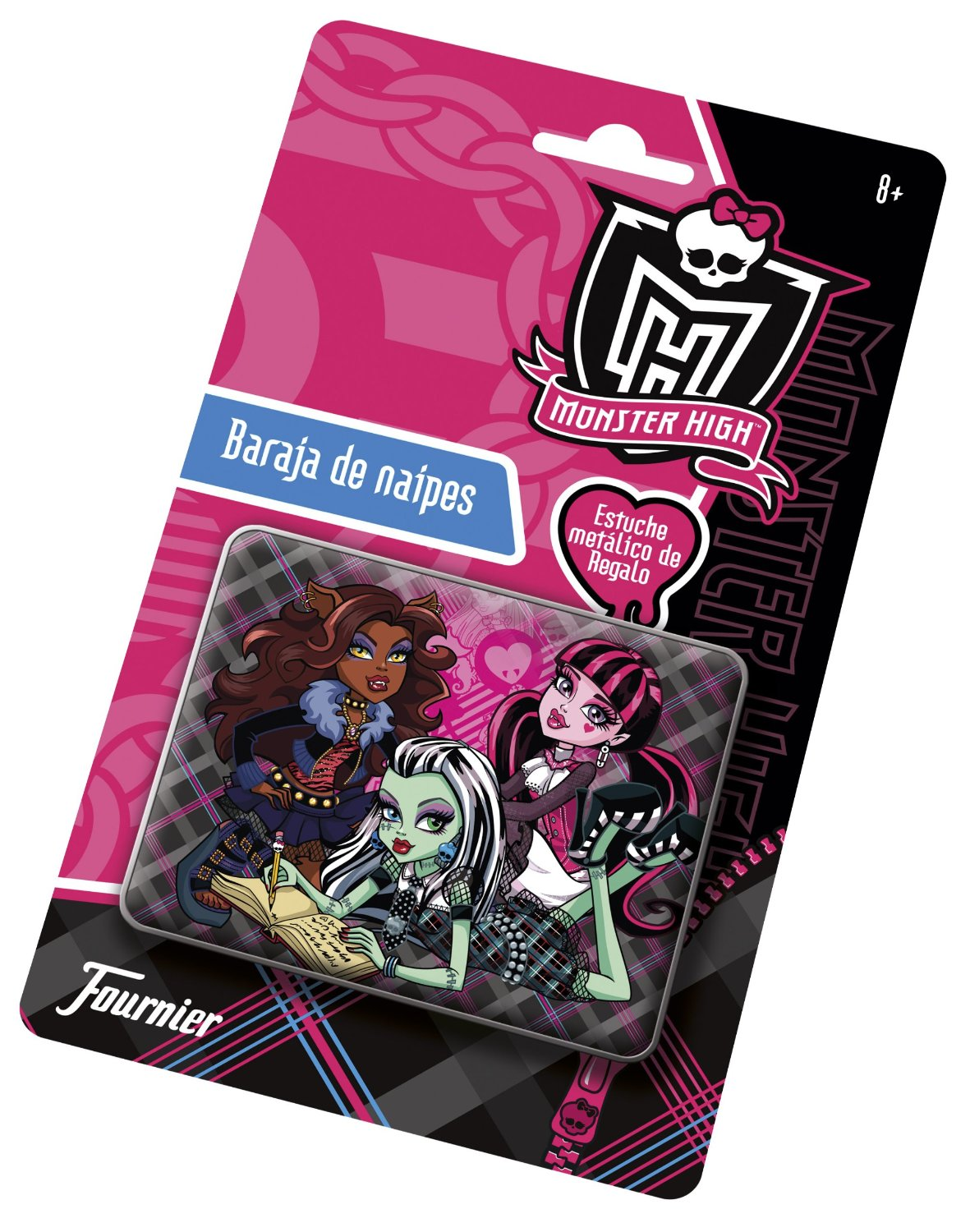 Monster High Baraja En Estuche Metal