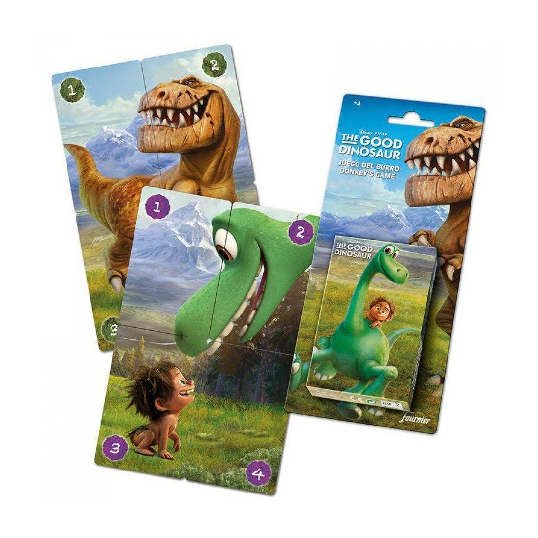 The Good Dinosaur - Baraja infantil con 40 cartas