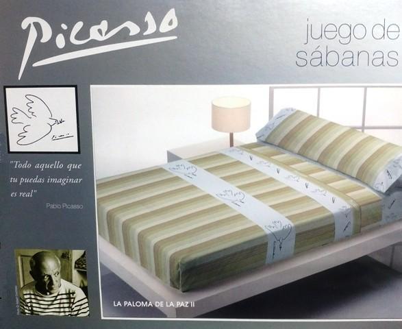 **OFERTA** SABANAS LA PALOMA DE LA PAZ II CREMA 135 cm.