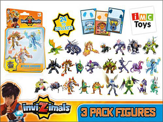 PACK 3 FIGURAS INVIZIMALS