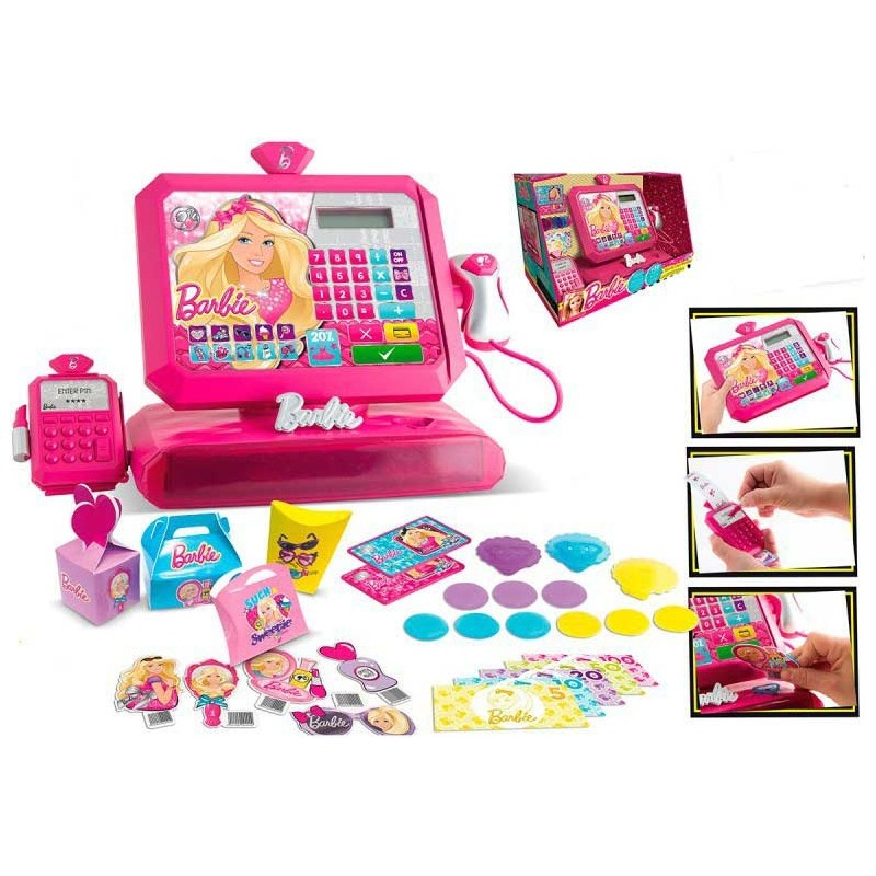 CAJA REGISTRADORA DELUXE BARBIE