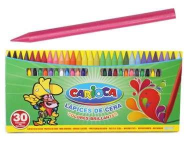 LAPICES DE CERA CARIOCA X30