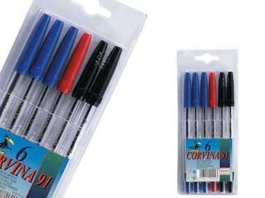 BOLIS 6 unidades - 3 azules+2 negros + 1 rojo.