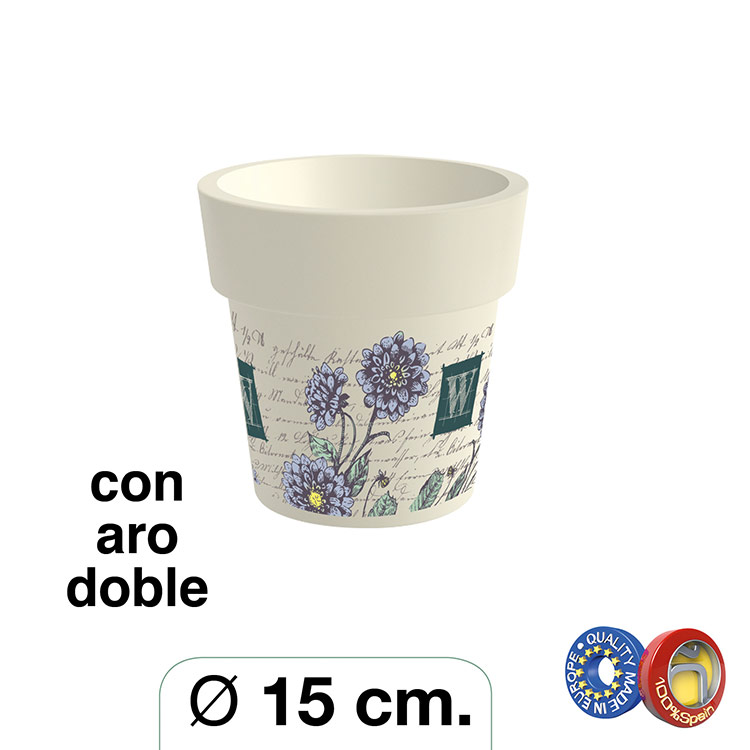Maceta Decorada Ø 15 cm. Premium