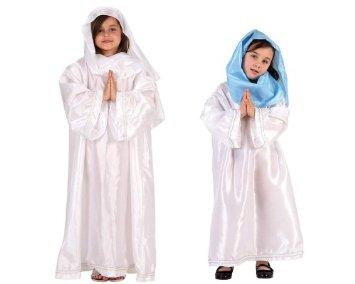 DISFRAZ DE VIRGEN MARIA TALLA 10-12 AÑOS