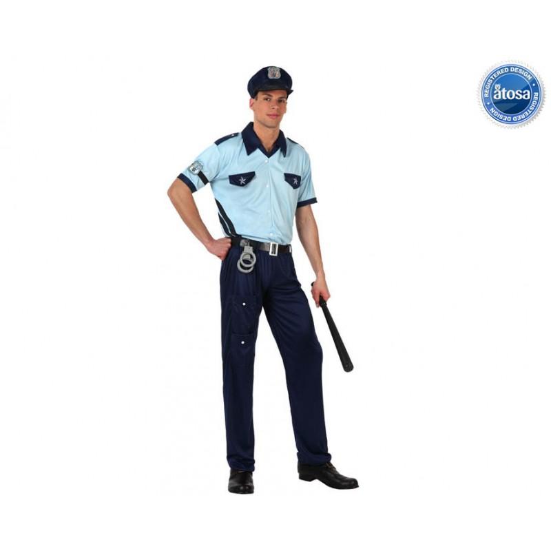 DISFRAZ HOMBRE POLICÍA T-2