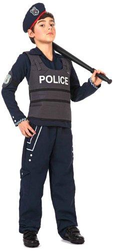 DISFRAZ NIÑO POLICÍA T-1