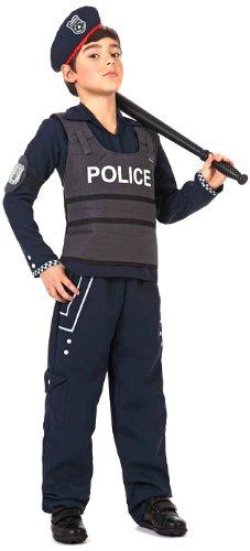 DISFRAZ NIÑO POLICÍA T-4