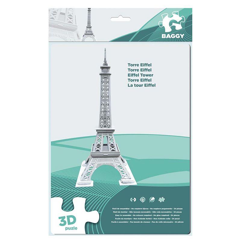 Puzzle 3D Baggy Torre Eiffel 34pz