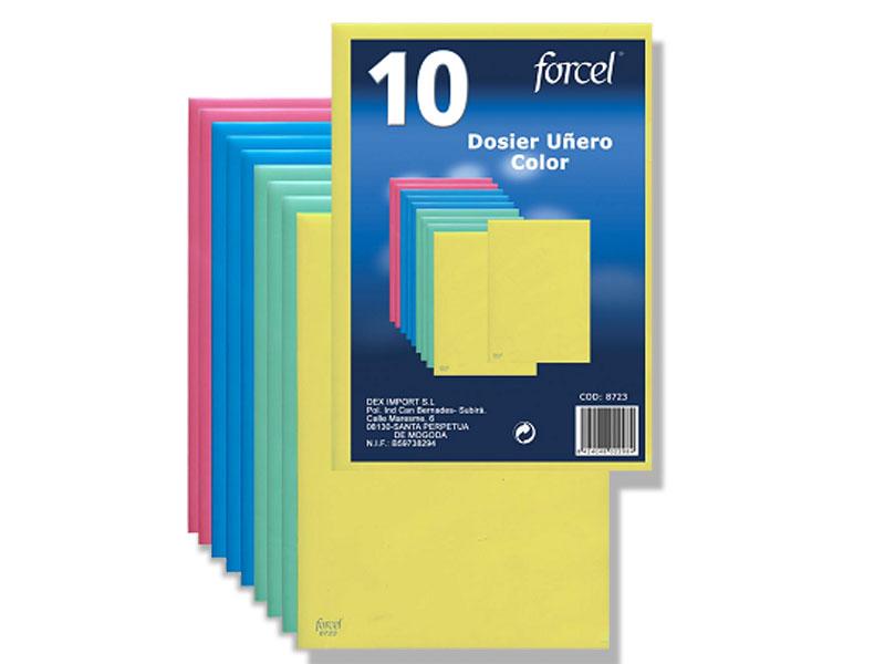 Bolsa 10 dossiers uñero color