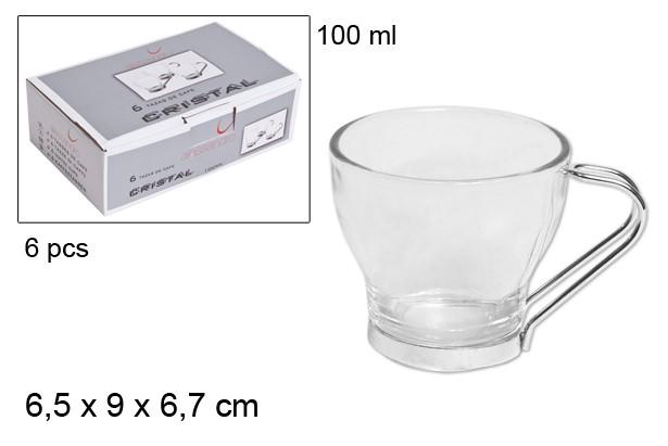 6 TAZAS DE CAFE 100 ML