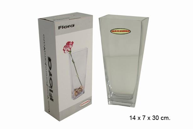 FLORERO VIDRIO 14x7x30cm