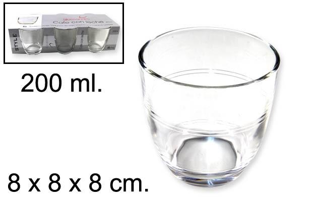 VASOS ALESSANDRO CAFE CON LECHE 200 ml.