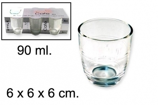 VASO CAFE 90ml x6uni.