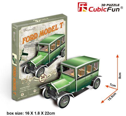 PUZZLE 3D AUTO ANTIGUO-4 CUBICFUN