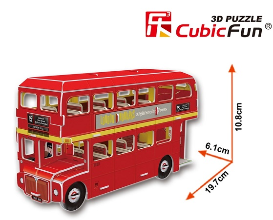 PUZZLE 3D AUTOBUS DE DOS PISOS CUBICFUN