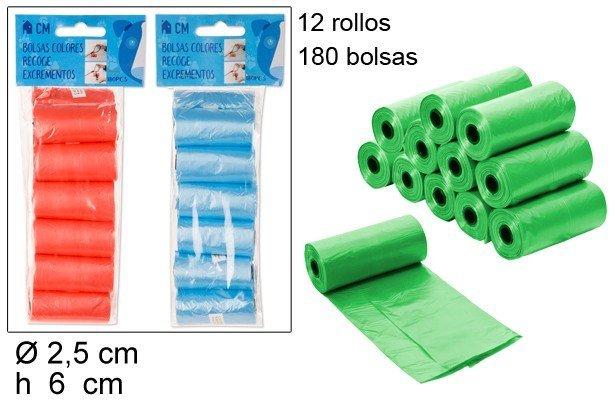 180 BOLSAS RECOGE EXCREMENTOS
