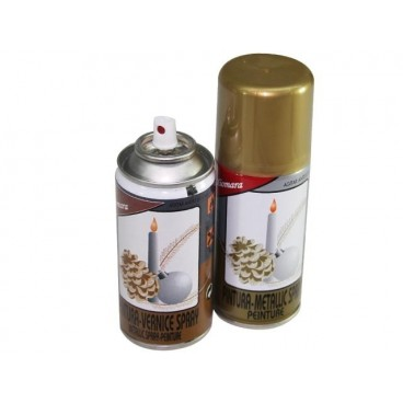 PINTURA SPRAY PLATA/DORADA/BRONCE 150 ML