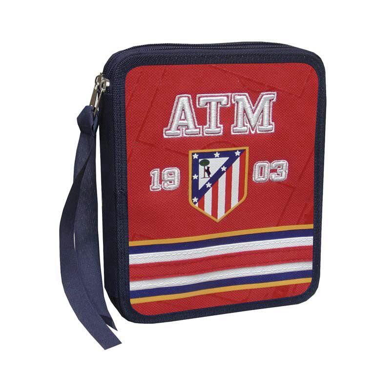 PLUMIER 2 PISOS ATLETICO DE MADRID BORDADO