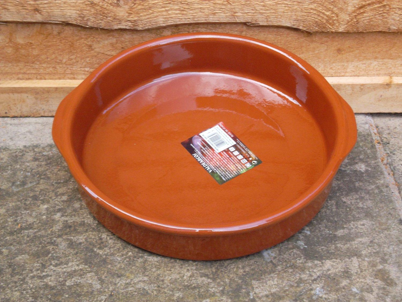 CAZUELA BARRO 32 CM CON ASAS