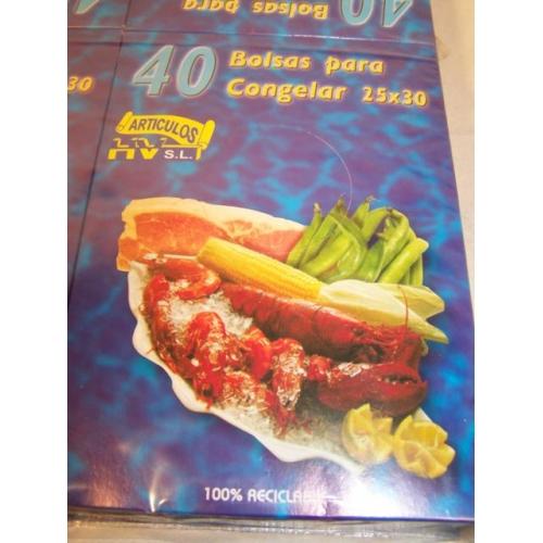 40 BOLSAS PARA CONGELAR 25 X 30