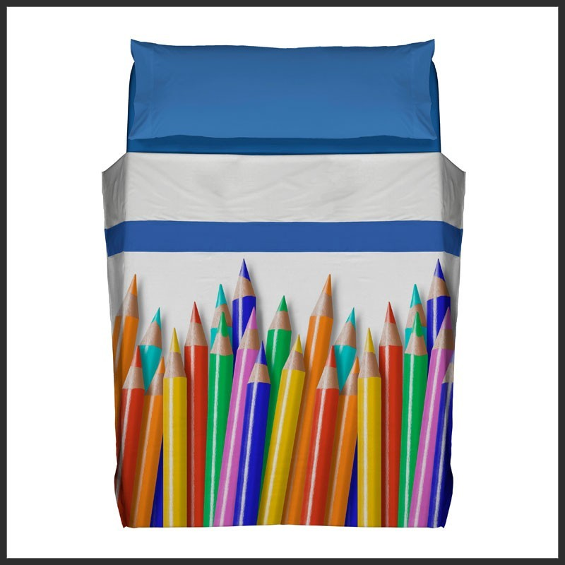 Juego de Sábanas Pencils cama 105 cm.