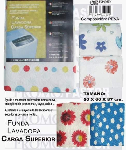 FUNDA LAVADORA CARGA SUPERIOR 50x60x87cm