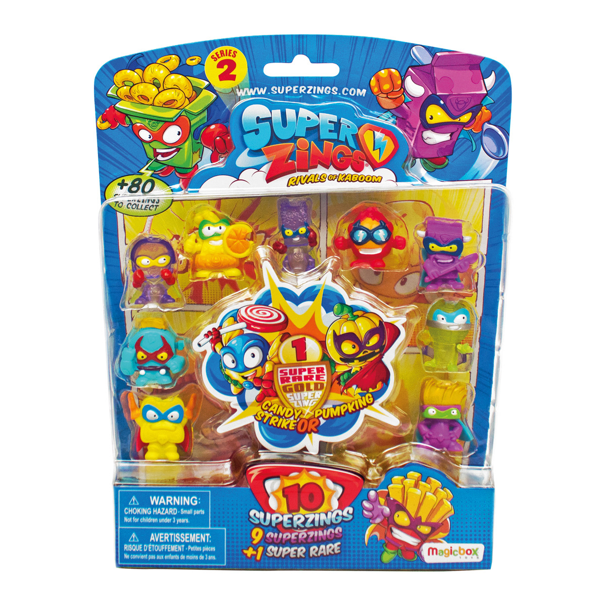 BLISTER 10 SUPERZINGS SERIE 2 SURTIDO