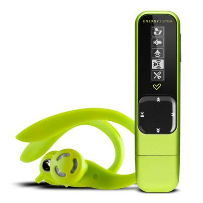 Energy MP3 Active 2 Neon Green 8GB (Radio FM, Auriculares deportivos, Brazalete)