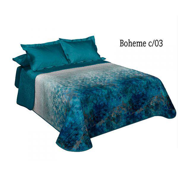 COPRILETTO BOHEME 150CM COLOR AZUL