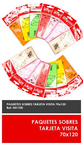 SOBRES SURTIDO COLORES 76x120
