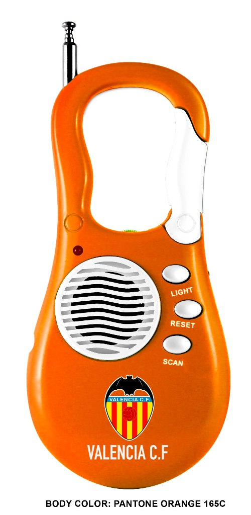 RADIO PORTATIL MOSQUETON VALENCIA C.F. 710304