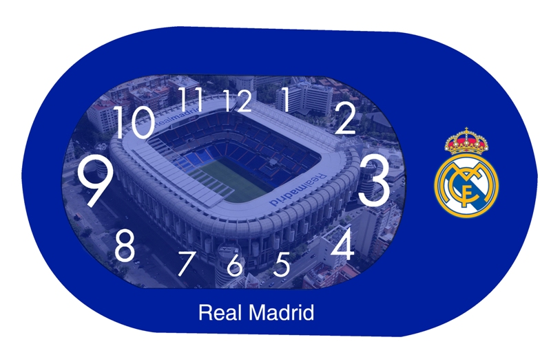 DESPERTADOR  OVAL GR.SWEEP  REAL MADRID 710991