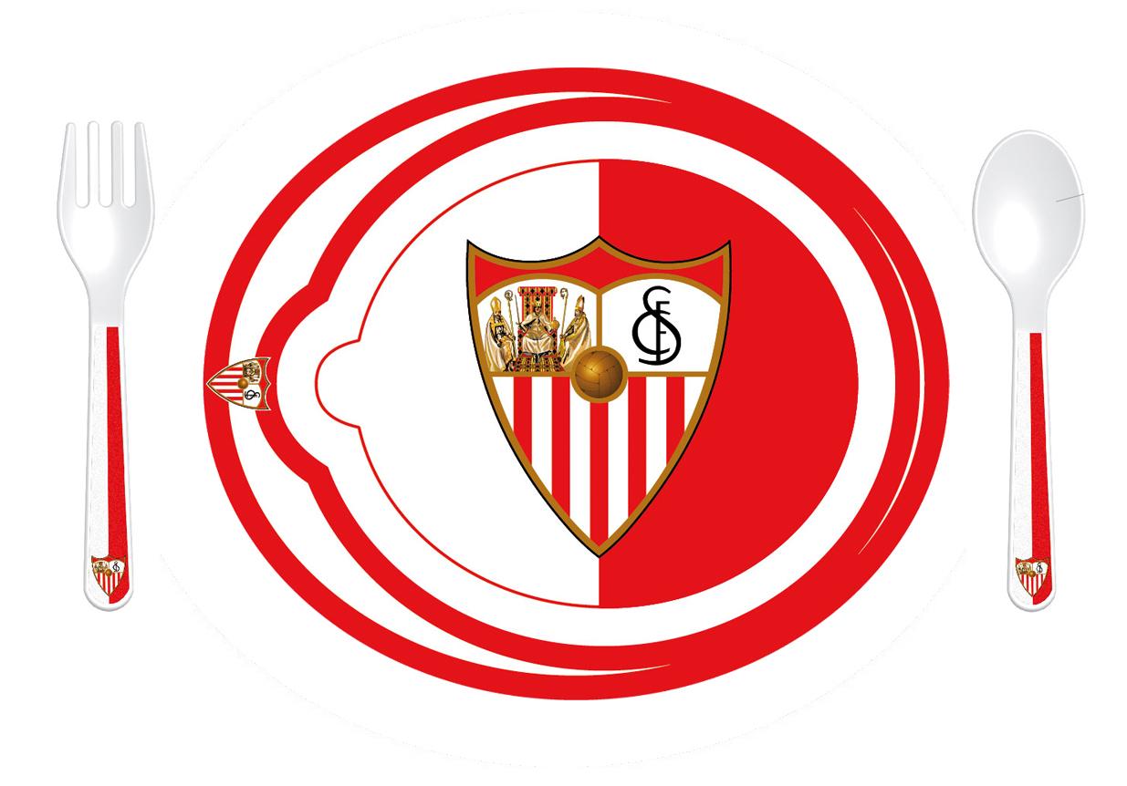 VAJILLA 3 PIEZAS MICROONDAS SEVILLA FC