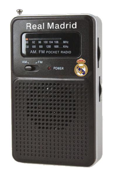 RADIO BOLSILLO REAL MADRID NEGRO