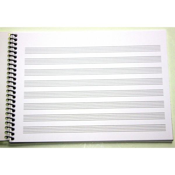 LIBRETA MUSICA PARTITURAS A5 x20hojas 155x215
