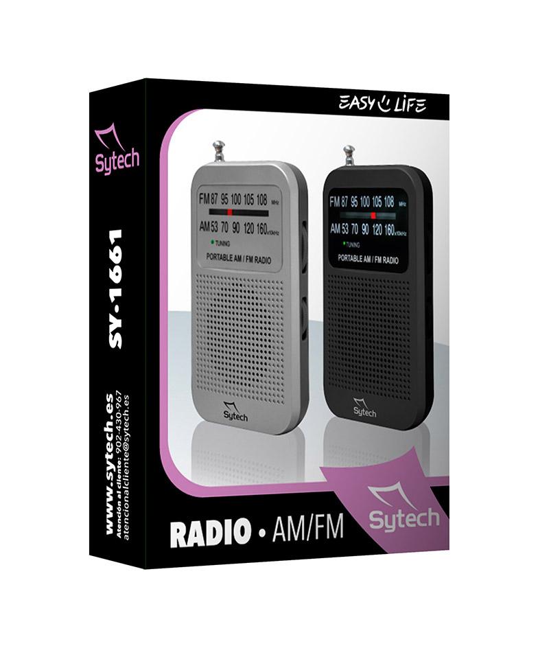 RADIO AM/FM ESTEREO DE BOLSILLO SY-1661PL
