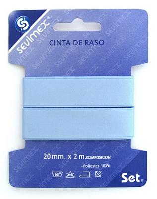 CINTA RASO 20mm AZUL 3M