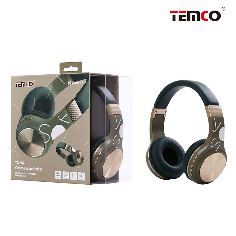 CASCOS INALAMBRICOS BLUETOOTH TC-607