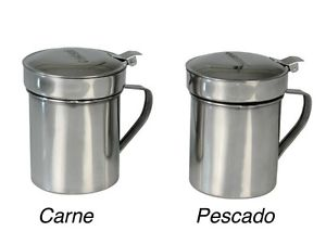 GRASERA ACERO INOX. 500ML - CARNE - PESCADO