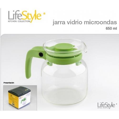 JARRA VIDRIO MICROONDAS 650ml