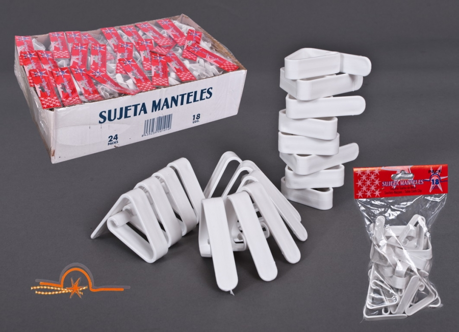 SUJETA MANTELES X 18