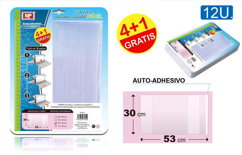 FORRO AJUSTABLE  LIBROS  30x53 cm  - 5 UND