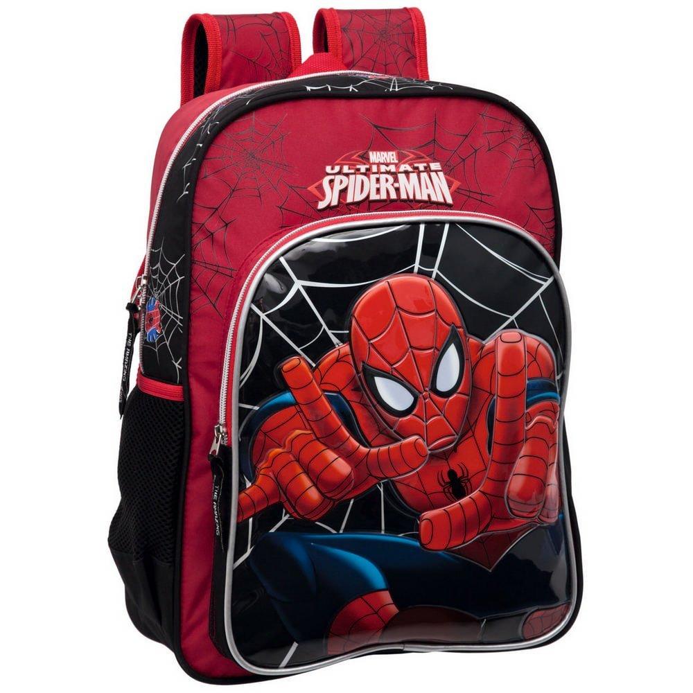 Marvel Mochila Infantil Spiderman, 42 cm, Rojo