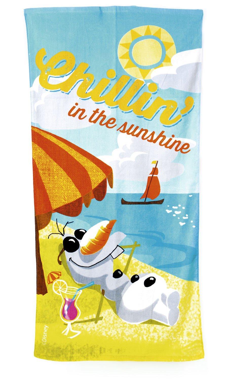 """Disney FROZEN 140 x 70 cm Olaf """"Chillin en el Sunshine"""" La playa y toalla de baño"""