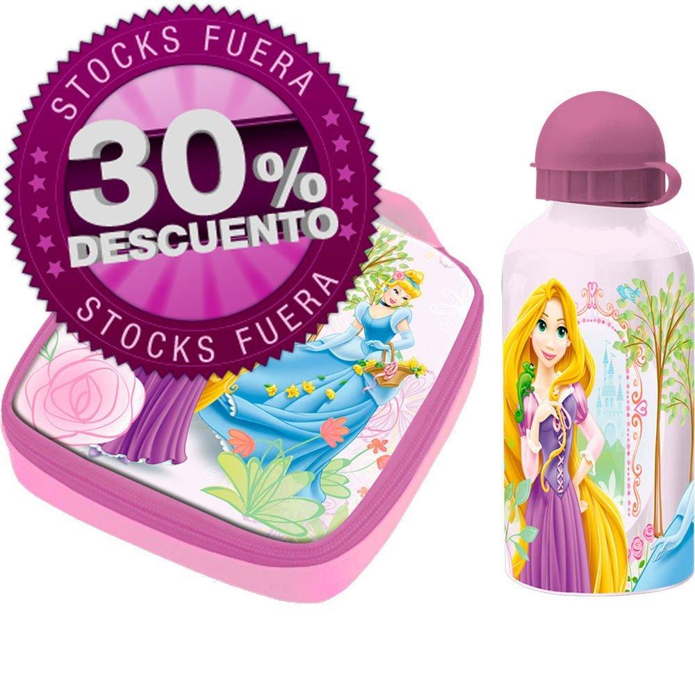 Set sandwichera termica + cantimplora aluminio Princesas Disney