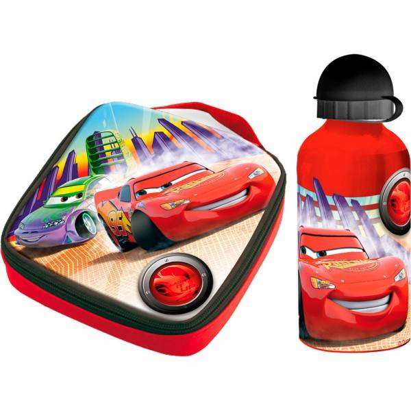 Set sandwichera termica + cantimplora aluminio Disney Cars