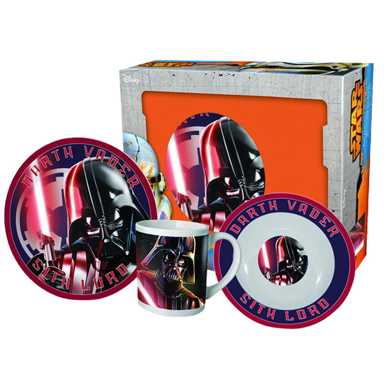 SET DESAYUNO STAR WARS DARTH VADER CERAMICA