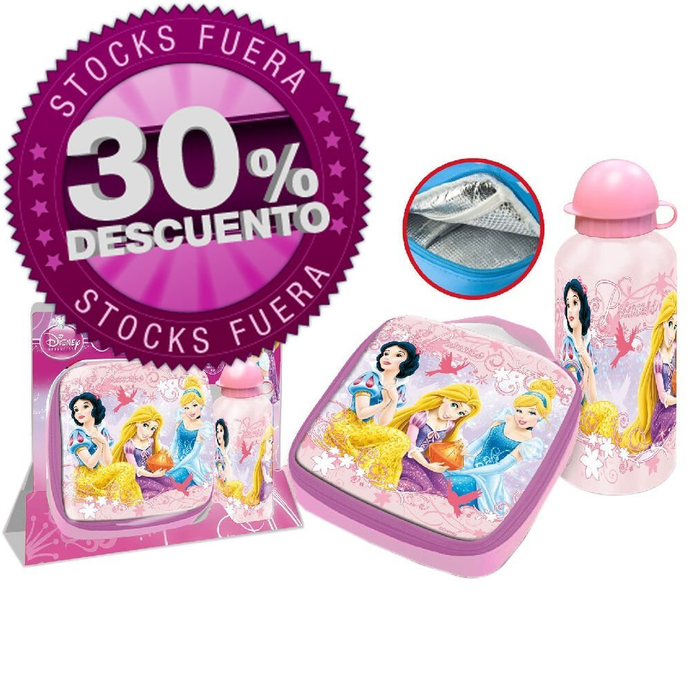 SET SANDWICHERA TERMICA Y CANTIMPLORA PRINCESAS DISNEY
