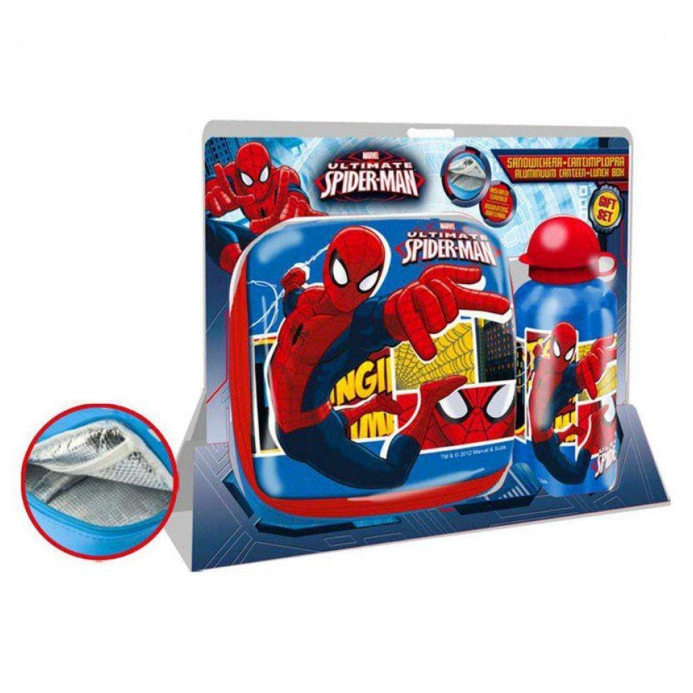 Set sandwichera termica + cantimplora aluminio Spiderman